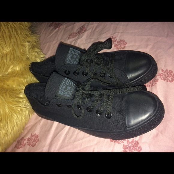 2d60f0759c2f88 Converse Shoes - Solid Black Converse All Star